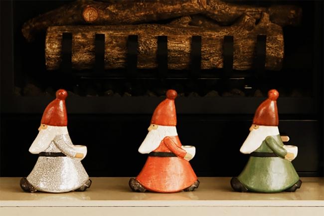 陶器のオブジェ(リサ・ラーソン)各9,500円(税別)
