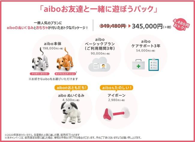 『aiboお友達と一緒に遊ぼうパック』のセット内容