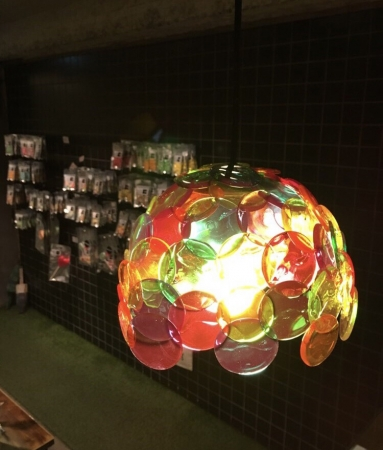 飴で出来たランプシェード