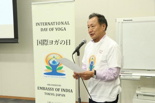 ヨガ推進議員連盟の事務局長を務める参議院議員山田宏氏
