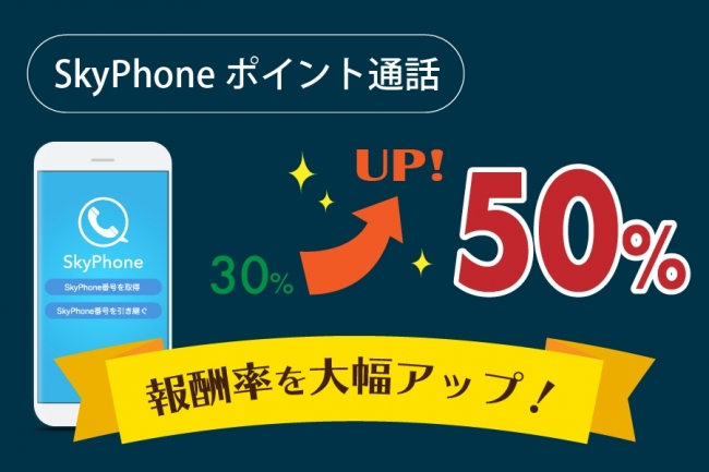 SkyPhoneポイント通話の報酬率UP!