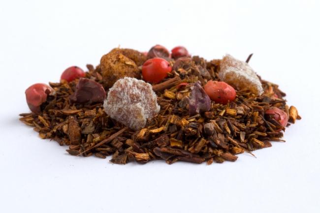 チョコレートモンキー:成分:成分:有機ルイボス、  有機ハニーブッシュ、  グラウンドチョコレート、  有機カカオニブ、  有機ピンクペッパー、  有機アップルビッツ、  バナナビッツ、  香料、  乳化剤(大豆由来)
