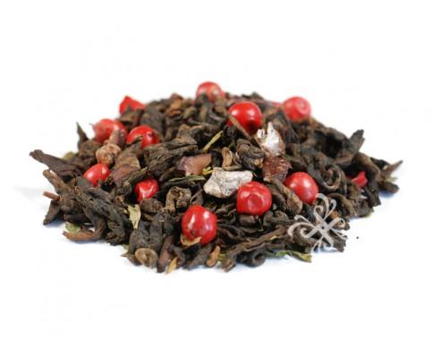 ダークチョコレートぺパーミント 有機プーアル茶、  有機カカオニブ、  有機ペパーミント、  有機ピンクペパー、  香料