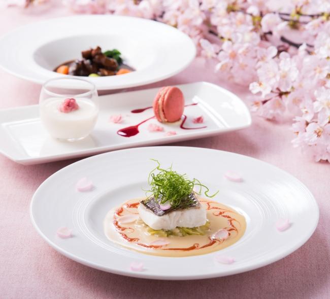 春の食材を使用した全5品のコース料理