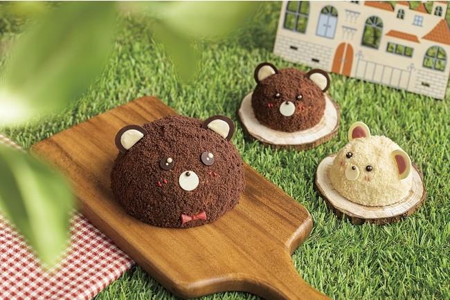 左:クマさんケーキ 右:こぐまケーキ2種