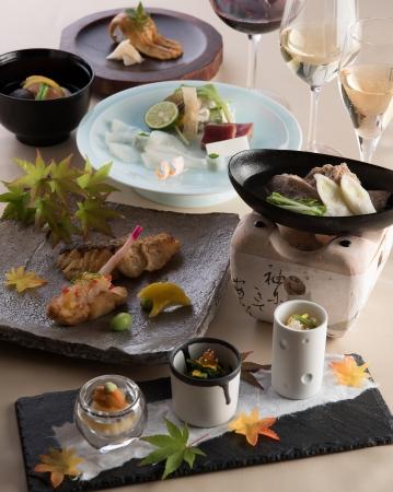 ふぐと合鴨を愉しむ懐石 ワインと日本料理のマリアージュ