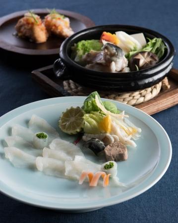 日本料理なにわ 懐石「ふぐを愉しむ冬懐石~あまおう、シャンパンとともに」