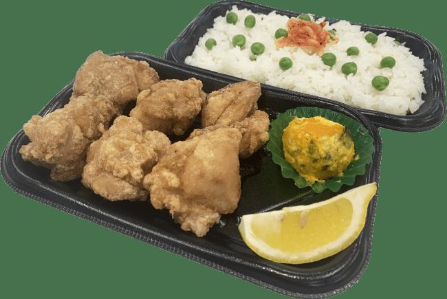 ■豆御飯と唐揚弁当 期間限定・特別商品 399円(+税)