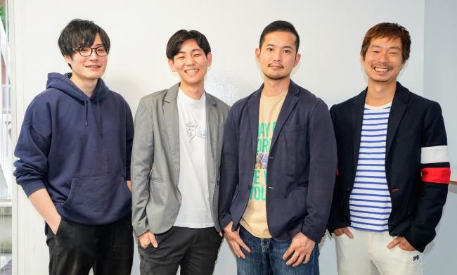 写真左から、CTO 杉田 允、COO 片岡 伶介、CEO 中山 翔太、CSO 恩蔵 優