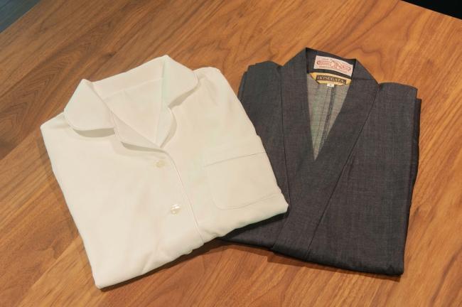 今治タオル生地のパジャマとデニム生地の作務衣