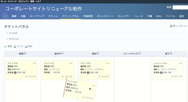 My Redmineの独自機能「チケットパネル」をオープンソースとして無償で公開した