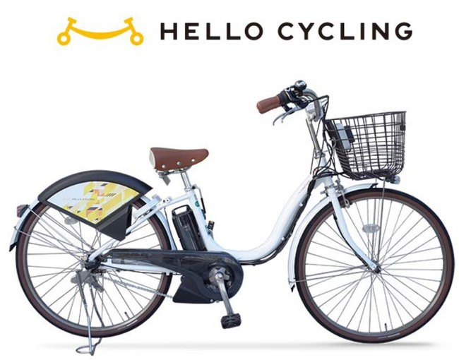 ▲ 「HELLO CYCLING」の自転車