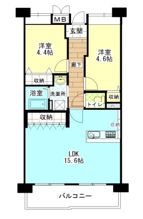 西田辺・B団地 間取り図面