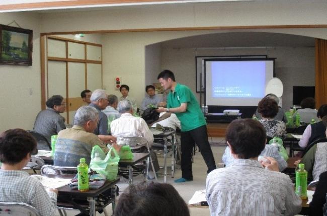 『きずなづくり応援プロジェクト』の一環で行った防災セミナー  団地や地域にお住まいの方々が参加