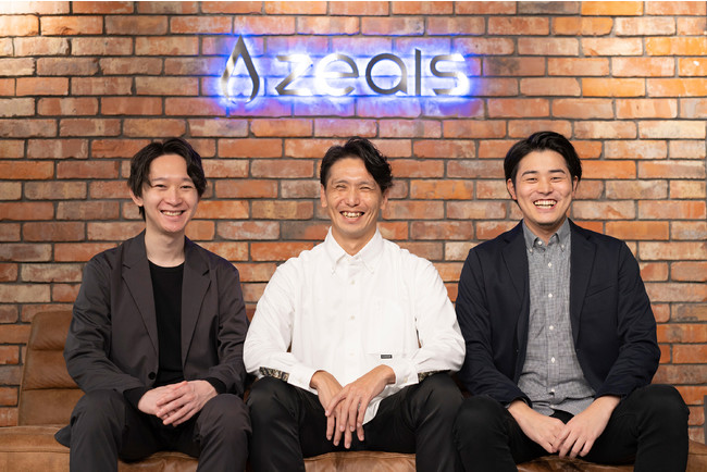 左:COO 遠藤、中:執行役員 渡邊、右:CEO 清水