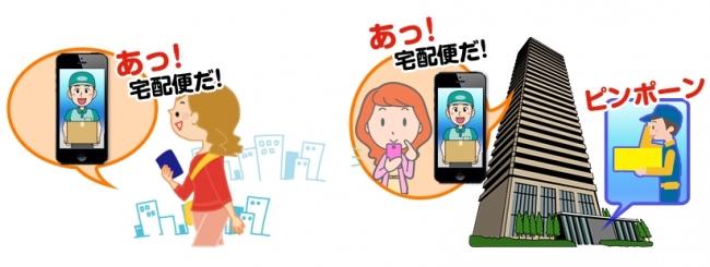 屋内でも屋外でも、スマートフォンを利用して、来訪者の対応が可能に!