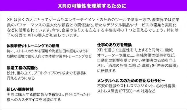 XRの可能性を理解するために
