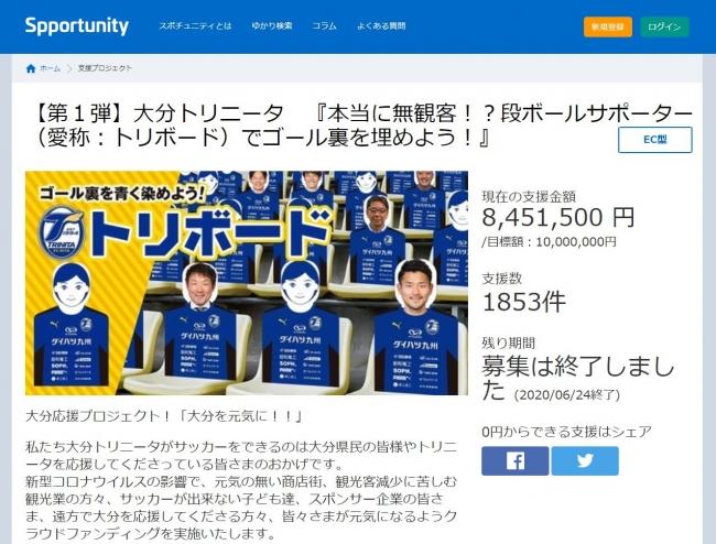 第1弾では指原莉乃さんや元日本代表で大分出身の清武弘嗣選手なども支援