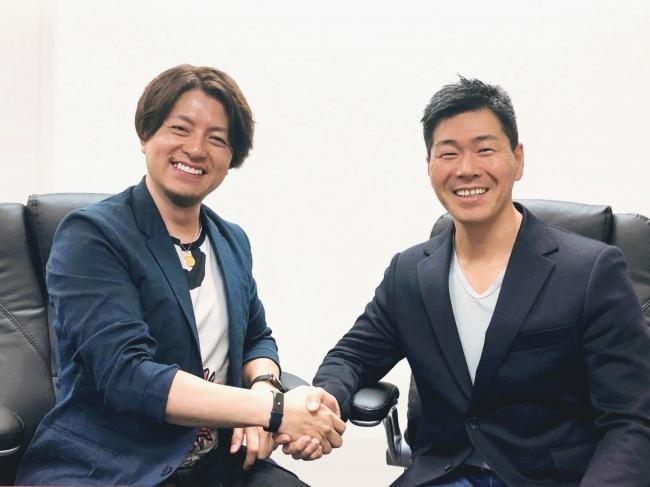左:株式会社グラッドキューブ 代表取締役CEO 金島弘樹 右:アクティブ合同会社 CEO 藤原 尚也氏