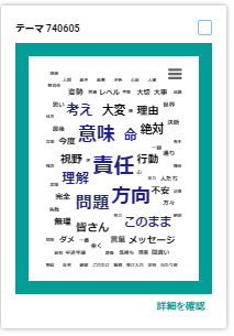 ※Keywordmap for SNS「関連語抽出機能」を使用