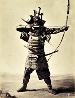 アポリネール ル バ 《日本の武者》 1864年、鶏卵紙  © MNAAG.