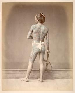 ライムント フォン シュティルフリート 《刺青をした別当》 1877−80年、鶏卵紙に手彩色  © MNAAG.