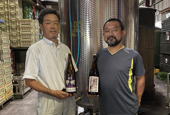 (左)山梨発酵工業株式会社 大野氏(右)東晨洋酒株式会社 田草川氏