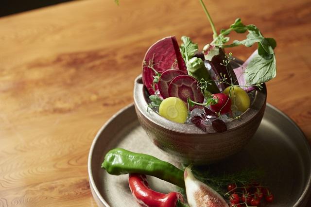 自然栽培農法で育てた野菜 天然熟成味噌のバーニャカウダー