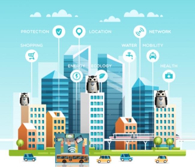 多言語小型AIロボット「ZUKKU(ズック)」と連携し、街全体をIoT化