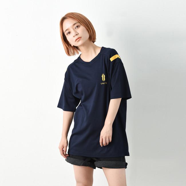 【UNITE】Shoulder Mark Logo Tee(Navy/White)¥7,480(税込み)