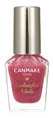 N09 ピーチスカッシュ 桜色のベースに2色のラメで可愛い指先に