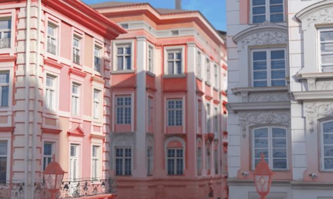 4.街がみるみるピンク色に