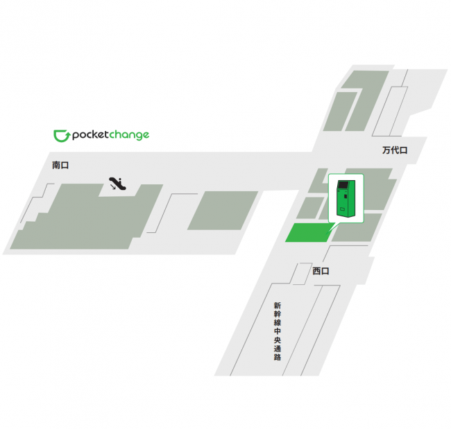 CoCoLo新潟 西N+のポケットチェンジ設置場所