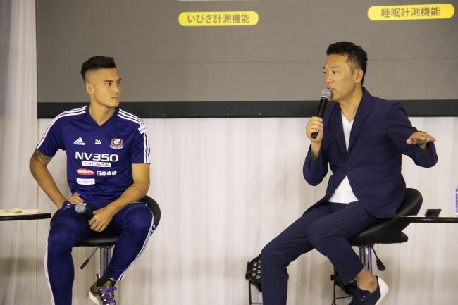 左)イッペイ シノヅカ選手 右)齊藤浄一社長