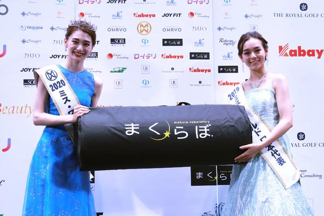 日本代表決定時の金谷さん(左)と、2019年日本代表の世良マリカさん(右)