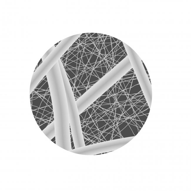 マスク中間層の拡大図