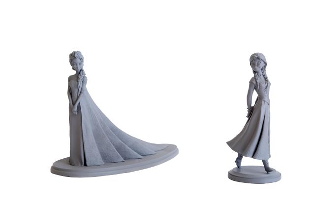 「アナと雪の女王」アナ&エルサ アニメーション・マケット(2013年)