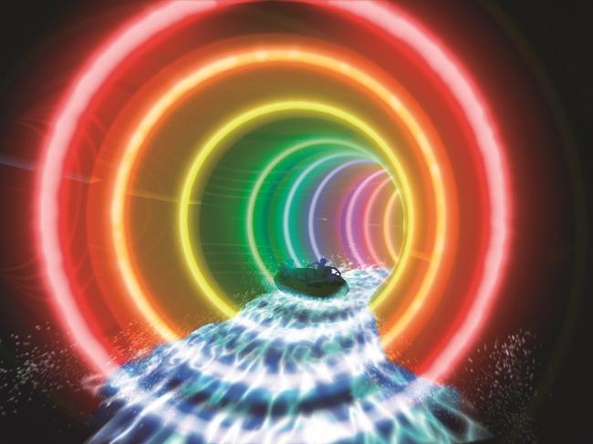 2.レインボーチューブ(レインボーに光るイルミネーション)