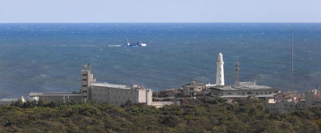 ※当ホテル(手前左)と犬吠埼灯台