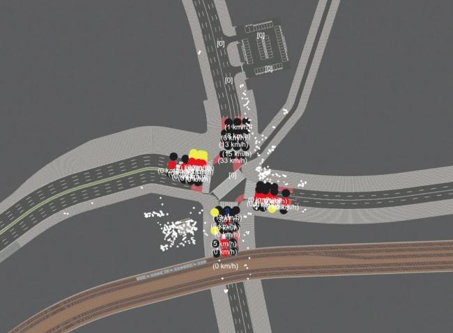 2Dビュー:交通状況など情報表示拡張