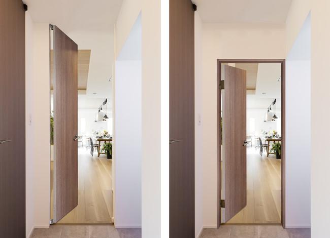 左:フルハイトドア(R)の空間  右:フルハイトドア(R)でない空間