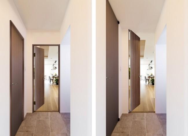 フルハイトドアの空間とそうでない空間