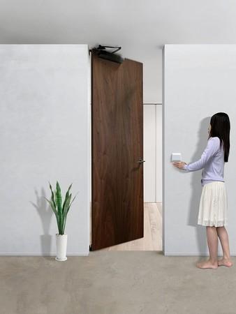 非接触開閉の自動ドア