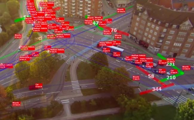 テラドローン交通量計測システム