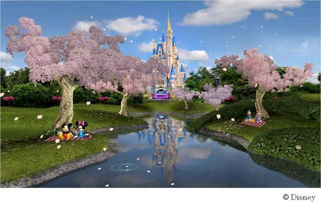 ディズニーミッキーとミニーたちとのお花見気分を味わえる Androidtm