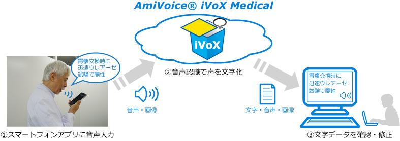 訪問医療・介護向け クラウド型音声入力管理サービス「AmiVoice® iVoX Medical」10月上旬 販売開始
