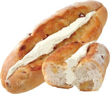 くるみパンのメープルバターサンド