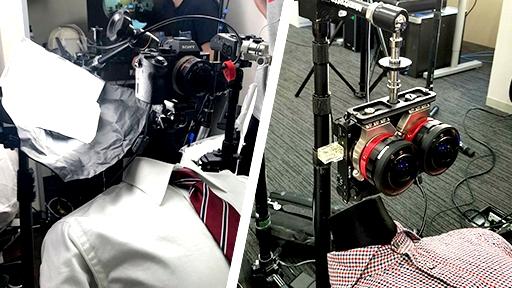 左)2DVR(平面)用 右)3DVR(立体視)用