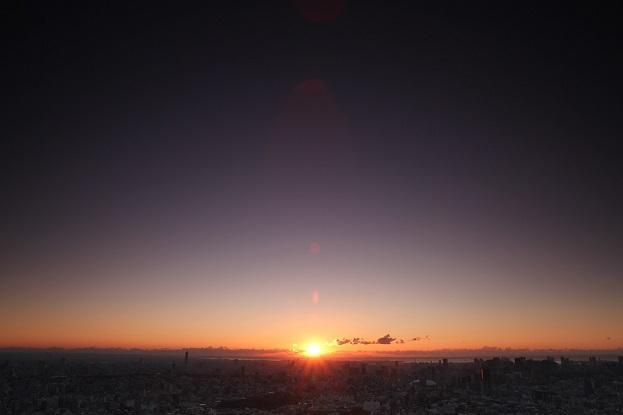 初日の出(スカイサーカス サンシャイン60展望台)
