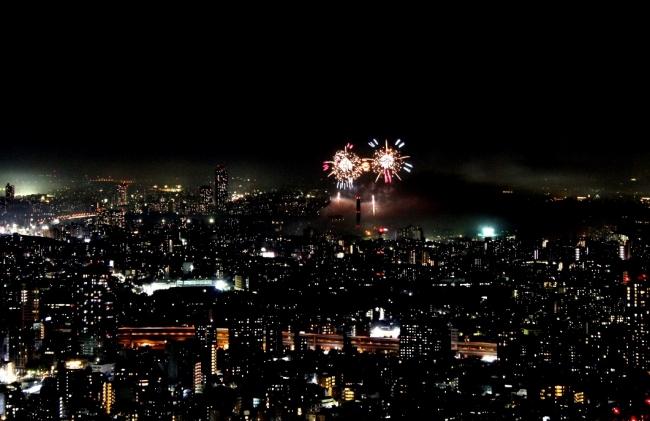 展望台から見える花火大会